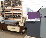 Two color Heidelberg offset press with the thermographer attachment.