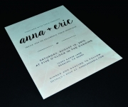 Digitally printed and duplexed wedding invitation