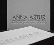 Contemporary style one color letterpress printed invitation.