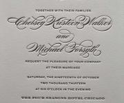 One letterpress printed ink and one letterpress printed varnish.