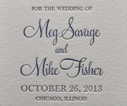 Letterpress printed save the date card.