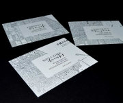 Offset printed wedding invitation with a Chicago map theame