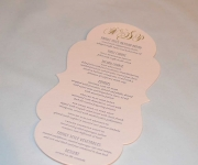 Die Cut Menu