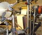 Foil press detail.