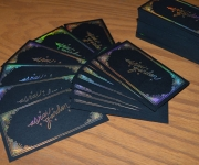 Holographic foil business card.
