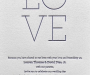 One color letterpress printed corporate Valentine's Day card.