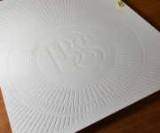 Eleven inch by seventeen inch embossed sheet.