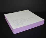 Edge colored wedding invitation.