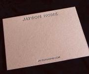 Letterpress printed corporate note card.