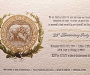 Offset and letterpress printed corporate event invitation