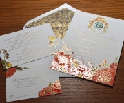 The suite, offset with registered foil stamping