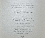Wedding invitation in gloss thermography