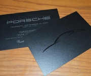 Offset printed invitation for Porsche