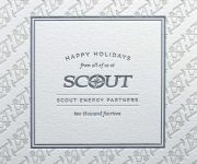 Two color corporate Holiday card.